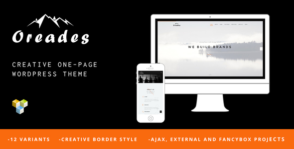 Download Oreades - Creative One-Page WordPress Theme nulled download