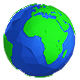 Low Poly Planet Earth - 3 Pack