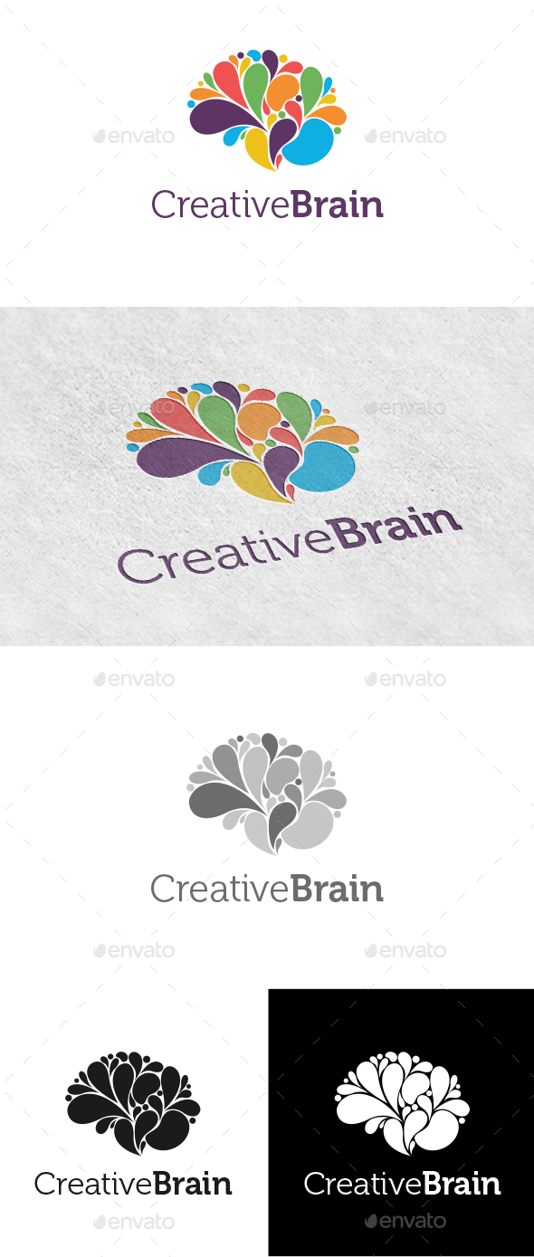 Creative Brain Logo by lauri88 | GraphicRiver