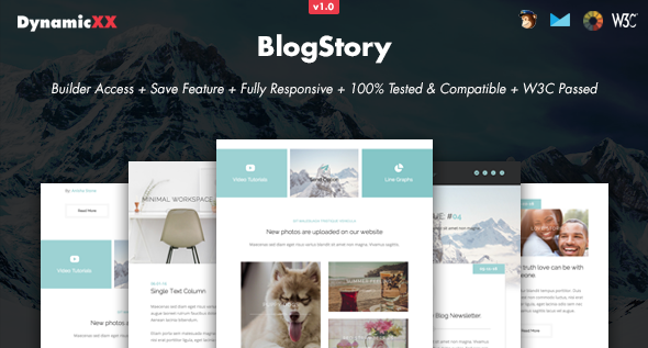BlogStory - Responsive Email + Online Template Builder