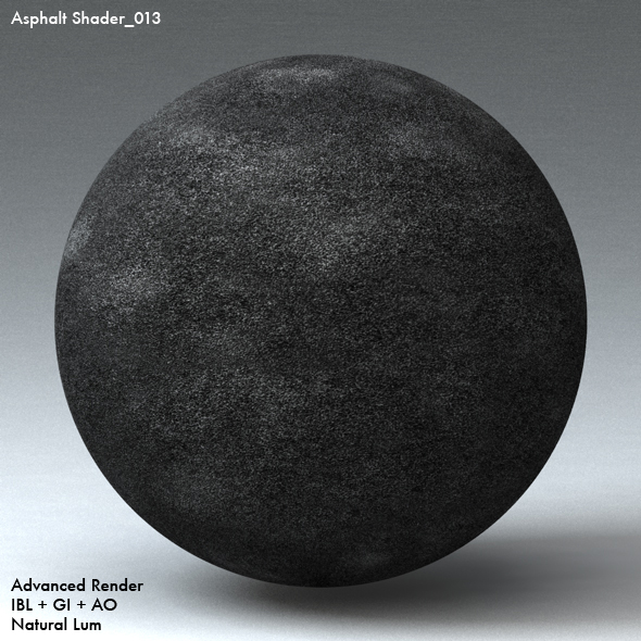 Asphalt Shader_013 - 3DOcean Item for Sale