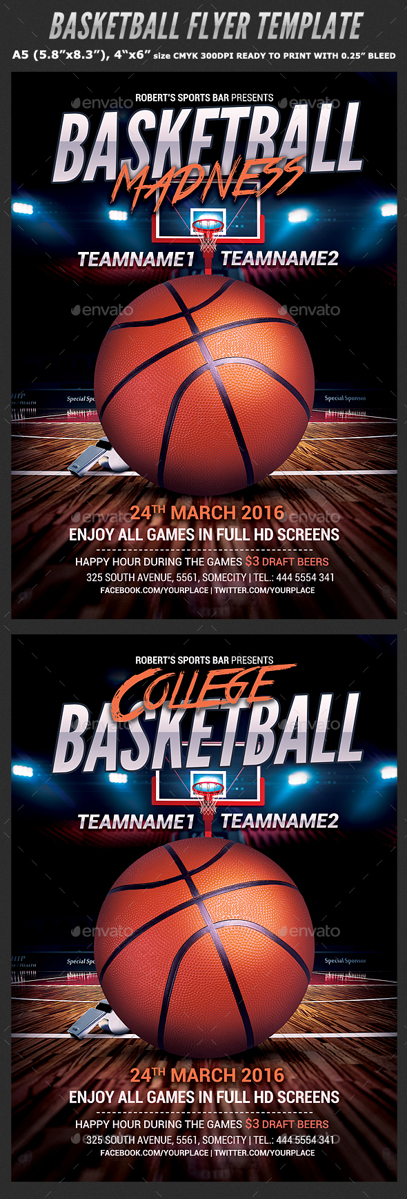 Famous 3 On 3 Basketball Tournament Flyer Template Sketch - Resume ...