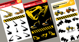 Vector Construction Machine Sets