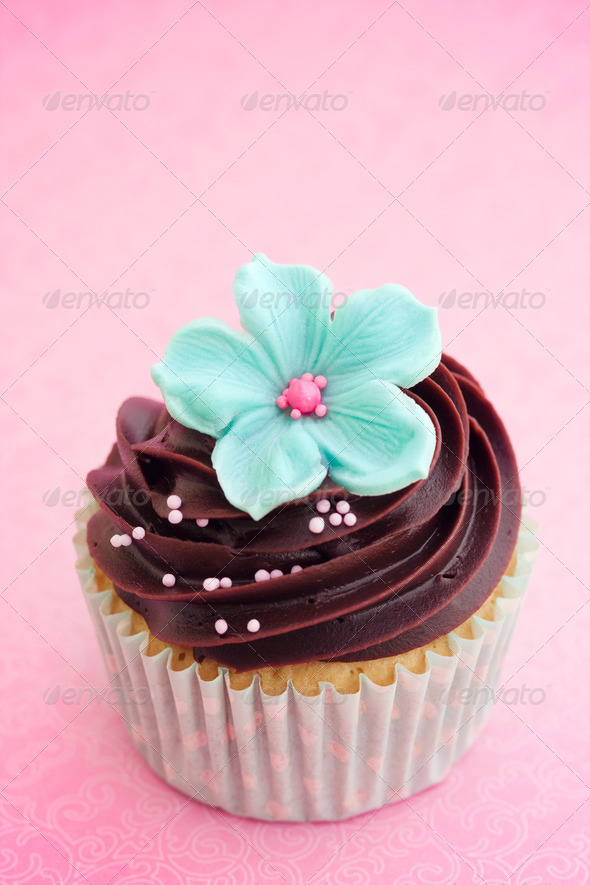 Flower cupcake - Stock Photo - Images