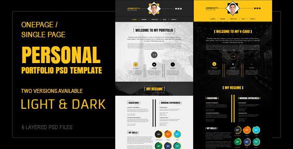 Vcard Theme Blog Creative Psd Templates From Themeforest