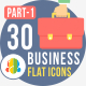 30 Office & Business Flat Icons 1