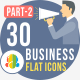 30 Office & Business Flat Icons 2