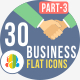 30 Office & Business Flat Icons 3