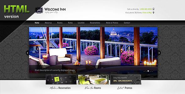 ThemeForest Welcome Inn Spa & Ski Resort HTML Theme 187274