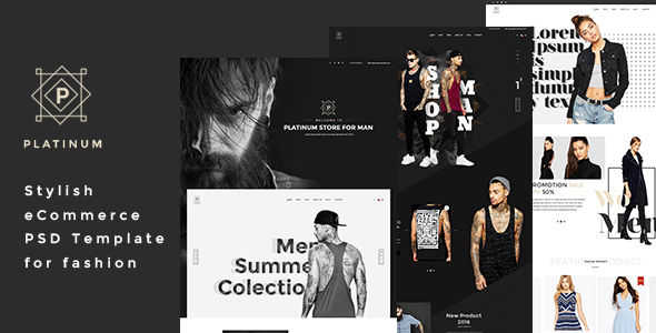 Platinum - Stylish ecommerce PSD Template for Fashion