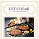 Art Deco Food & Beverages Menu