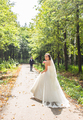Just married couple outdoors