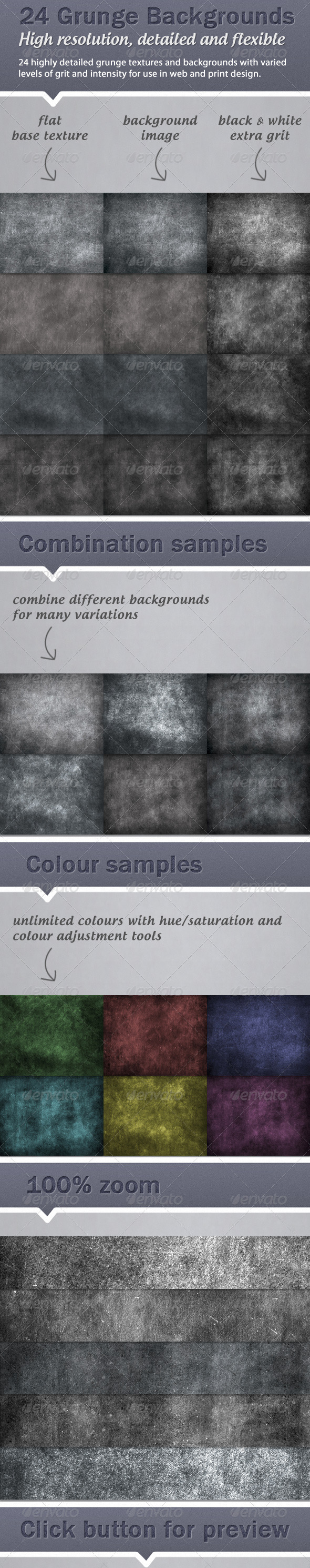 GraphicRiver 24 high resolution grunge backgrounds 1589045