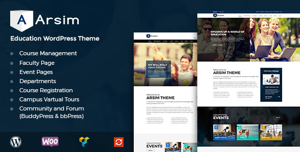 Download Arsim - Education WordPress Theme with WooCommerce nulled download