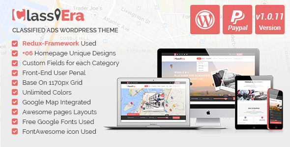 14 - Classiera – Classified Ads WordPress Theme
