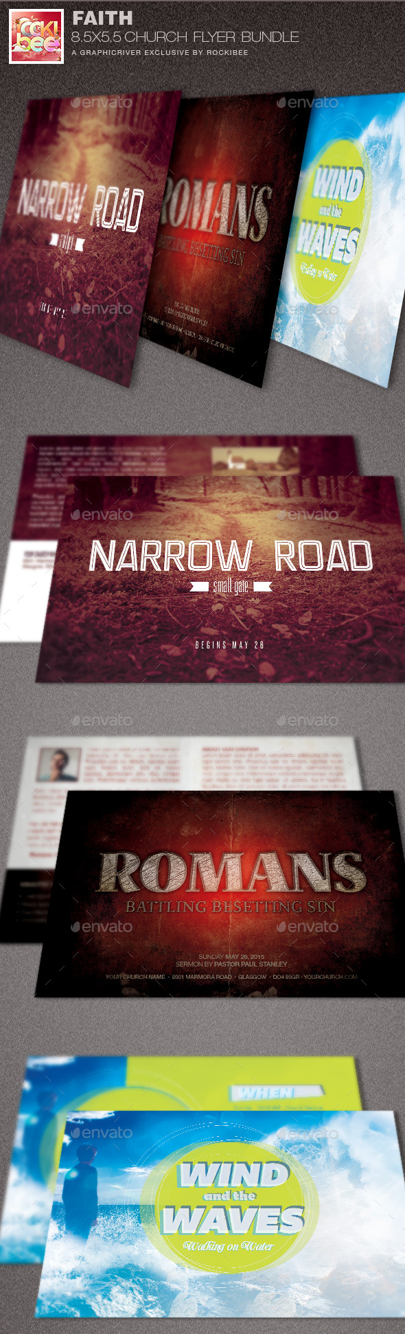 Faith Church Flyer Template Bundle Image Preview