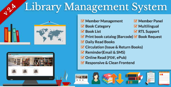 Download Library Management System (LMS) nulled download
