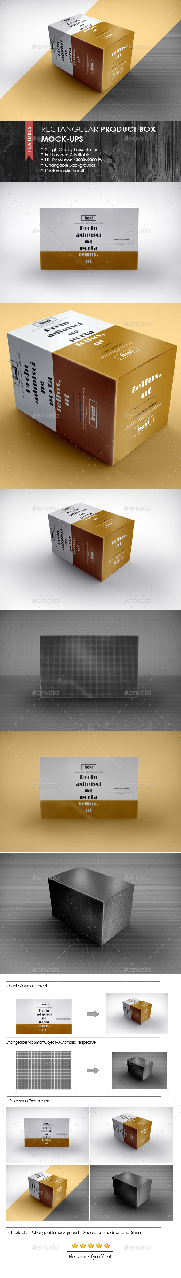 Rectangular Product Box Mock-Ups