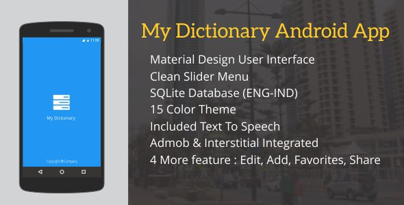 My Dictionary with Admob