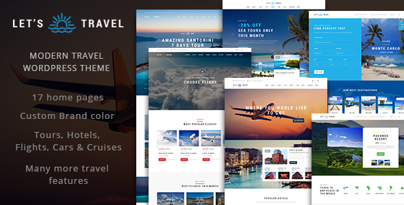 Download Let's Travel - Complete Travel Booking Theme nulled download