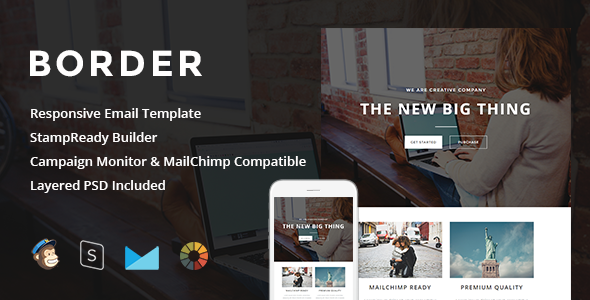 Image of Border - Responsive Email + StampReady Builder