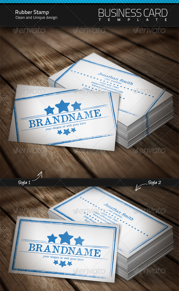 Rubber stamp business card graphicriver for Rubber business cards