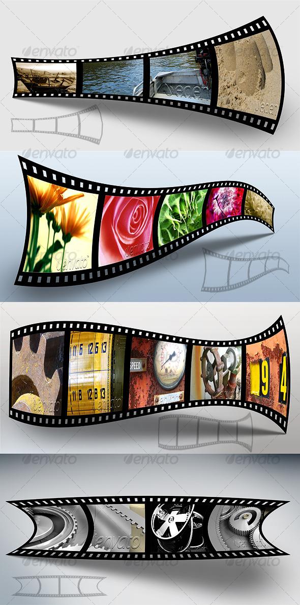 GraphicRiver 3D Filmstrip Portfolio 62308