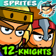 12- Knights Character Sprites