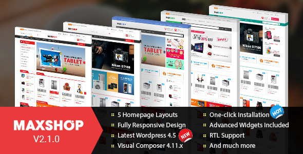 8 - Maxshop - Responsive WordPress WooCommerce Theme