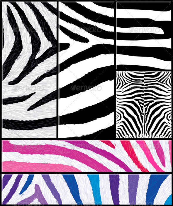 GraphicRiver Zebra Pattern Set with Variations 1589885