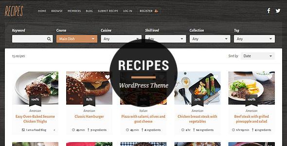 Recipes WordPress Theme