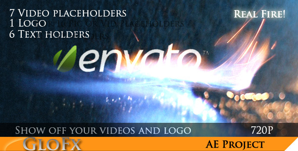 After Effects Project - VideoHive Fire Video Display 1074625
