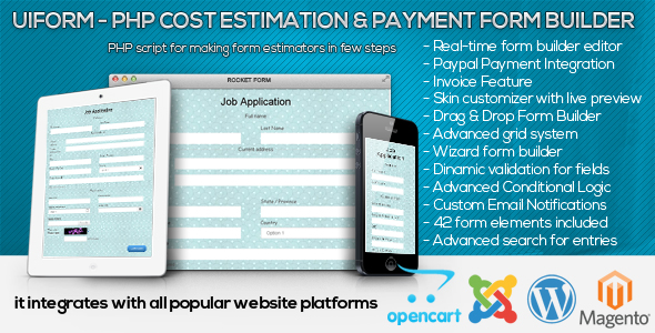 Uiform - PHP Cost Estimation & Payment Form Builder - CodeCanyon Item for Sale