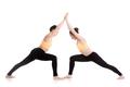 Yoga partnering, Virabhadrasana 1 pose