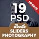 Photography Sliders - 19 PSD