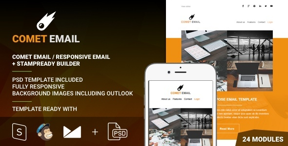 Download CometEmail - Responsive Email + StampReady Builder nulled download