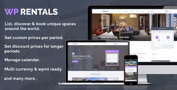 23 - WP Rentals - Booking Accommodation WordPress Theme