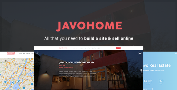 22 - Javo Home - Real Estate WordPress Theme