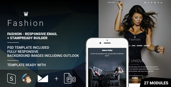 Download Fashion - Responsive Email + StampReady Builder nulled download