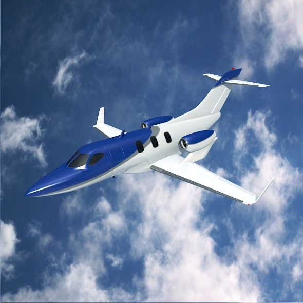 Honda jet concept private jet - 3DOcean Item for Sale