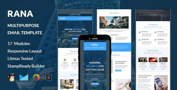 Rana Multipurpose Responsive Email Template Stampready