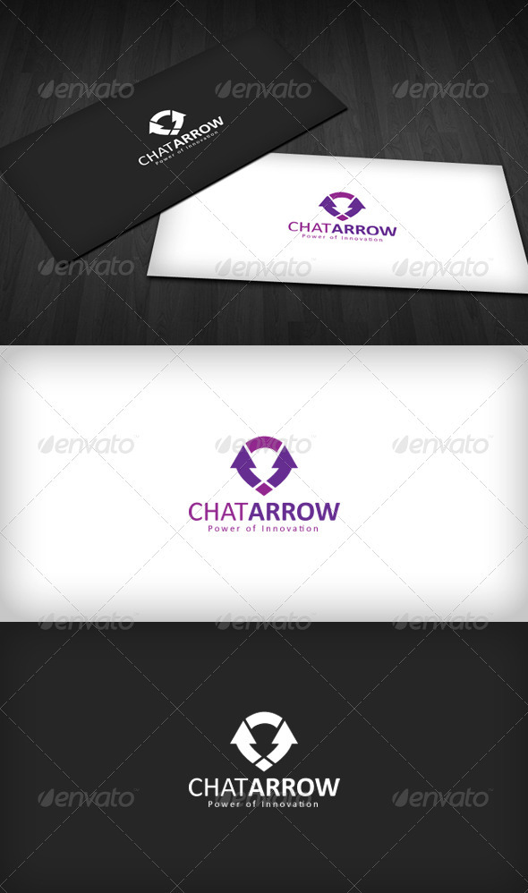 Chat Arrow logo - Vector Abstract