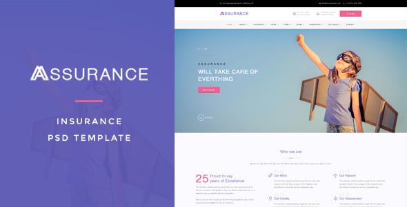 Assurance - Insurance PSD Template
