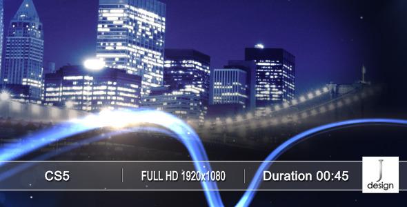 AE模板:绚丽城市风景宣传 三维粒子光线 企业公司宣传片头展示 电视节目包装模版Sky Line 免费下载