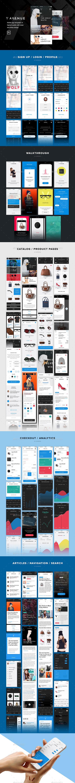 V Avenue Mobile UI Kit for Photoshop (User Interfaces)
