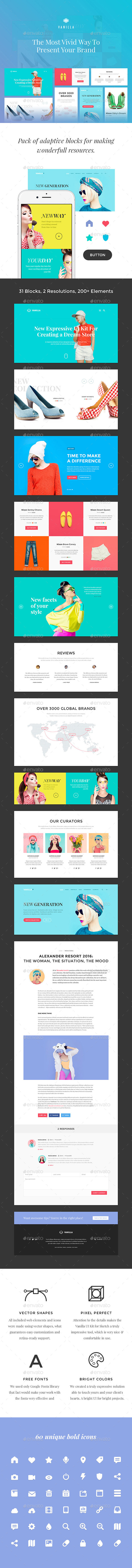Vanilla UI Kit for Photoshop (User Interfaces)