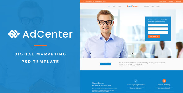Adcenter - Digital Marketing PSD Template