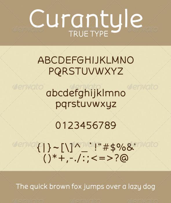 GraphicRiver Curantyle True Type 1590636