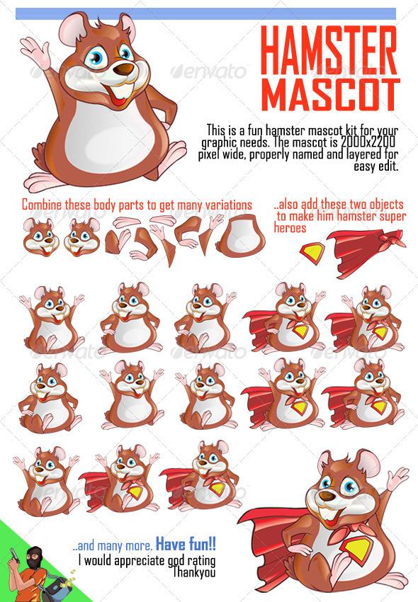GraphicRiver Hamster Mascot 1530108
