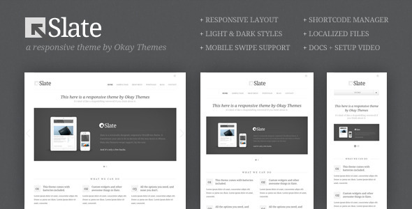 ThemeForest Slate Responsive WordPress Theme 1590945